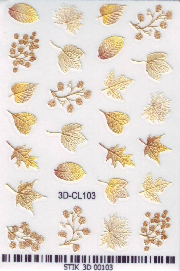3D Слайдер-дизайн - 3D-CL103 осенние листья