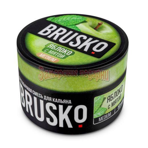 Бестабачная смесь Brusko (Яблоко с Мятой) 50гр
