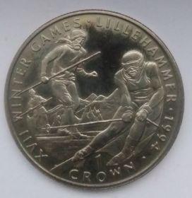 XVII Зимние Олимпийские игры, Лиллехаммер 1994 Лыжные гонки 1 крона Гибралтар 1993