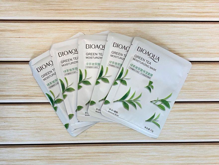 Маска для лица Bioaqua с экстрактом семян зеленого чая