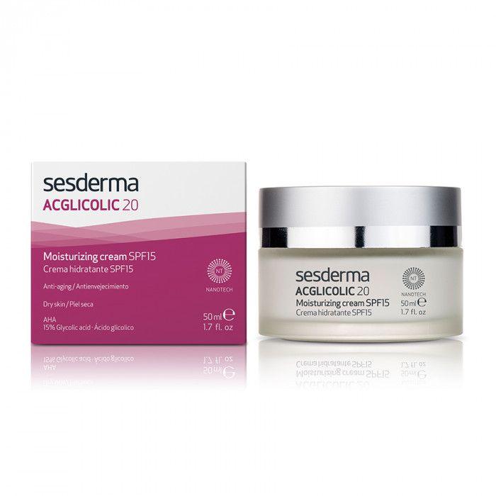ACGLICOLIC 20 Moisturizing cream SPF 15 – Крем увлажняющий с гликолевой кислотой СЗФ 15 Sesderma (Сесдерма) 50 мл