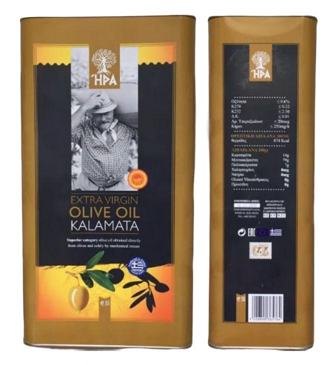 Масло оливковое натуральное KALAMATA (Греция) 5л