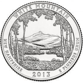 ПАРК №16 США - 25 центов 2013 год. Национальный лес Белые горы.UNC