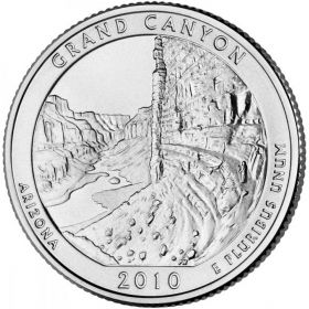 ПАРК №4 США - 25 центов 2010 год. Аризона. Национальный парк Гранд-Каньон. UNC