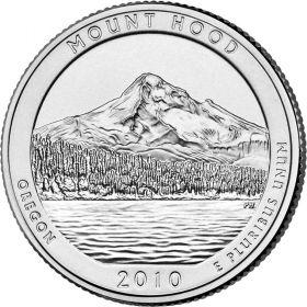ПАРК №5 США - 25 центов 2010 год. Орегон. Национальный лес Маунт Худ. UNC