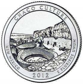 ПАРК №12 США - 25 центов 2012 год. Нью-Мексико. Национальный исторический парк Чако. UNC