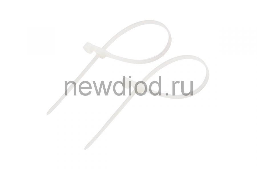 Стяжкa нейлоновая под винт 200 x 4,3 мм, белая (упак. 100 шт) REXANT