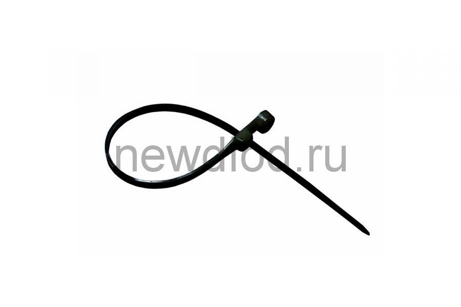 Стяжкa нейлоновая под винт 150 x 3,6 мм, черная (упак. 100 шт) REXANT
