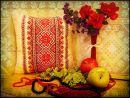"""Подушка светящаяся """"Украинская вышиванка"""""""