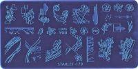 Стемпинг плитка высшее качество  STARLET-179