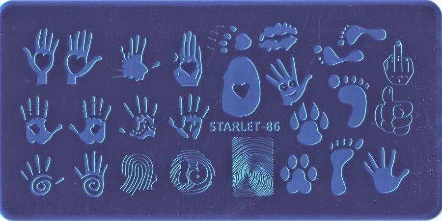 Стемпинг плитка высшее качество  STARLET-86