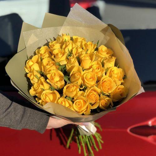 АКЦИЯ! Букет из 31 желтой розы