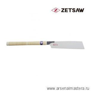 Пила японская Kataba Cross H-250 250 мм 18 tpi 0,5 мм поперечный рез деревянная рукоять ZetSaw 15006
