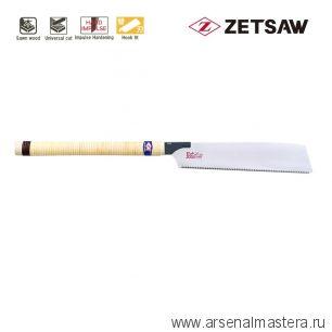 Акция! Минус 15% Пила японская универсальная Kataba Universal H-300 300 мм 12tpi 0.7 мм деревянная рукоять для плотницких и столярных работ ZetSaw 15011