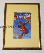 Автографы: Стэн Ли, Марк Бэгли, Рэнди Эмберлин. На комиксе Человек паук 1991 г. Редкость