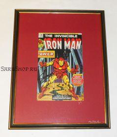 Автограф: Стэн Ли. На комиксе Железный человек / Iron Man. 1974 год. Редкость
