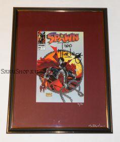 Автограф: Тодд Макфарлейн. На комиксе Спаун / Spawn. 1994 год.
