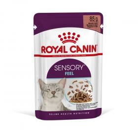 """Royale Canin Sensory """"Ощущения""""  Влажный корм для кошек, стимулирующий осязательные рецепторы ротовой полости (в соусе), 85гр"""