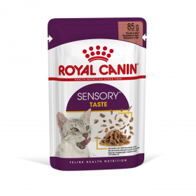 """Royal Canin Sensory """"Вкус"""" Влажный корм для взрослых кошек стимулирующий вкусовые рецепторы, (в соусе) 85гр"""