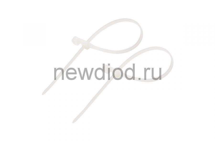 Стяжкa нейлоновая под винт 150 x 3,6 мм, белая (упак. 100 шт) REXANT