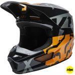Fox V1 Skew Black/Gold MIPS шлем внедорожный
