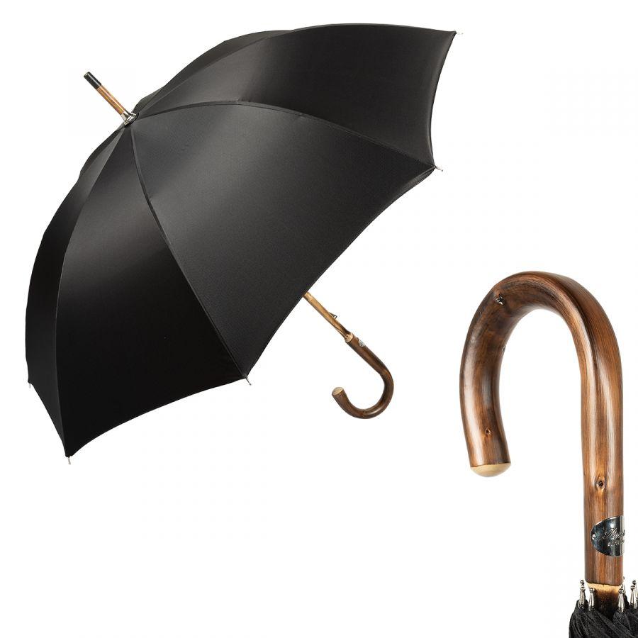 Зонт-трость Pasotti Chestnut Chevron Black