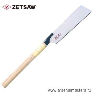 Акция! Минус 15% Пила безобушковая тонкая поперечный рез Kataba Cross H-225 225 мм 21 tp, 0,4 мм деревянная рукоять ZetSaw 15018