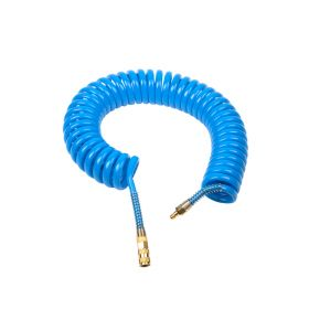 Шланг полиуретан (PU) 14*10, витой, 10 м, синий, БРС в комплекте