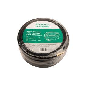 Шланг ПВХ (PVC) 10*15, 15 м, черный, БРС в комплекте