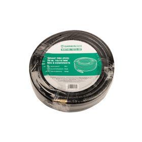 Шланг ПВХ (PVC) 10*15, 20 м, черный, БРС в комплекте