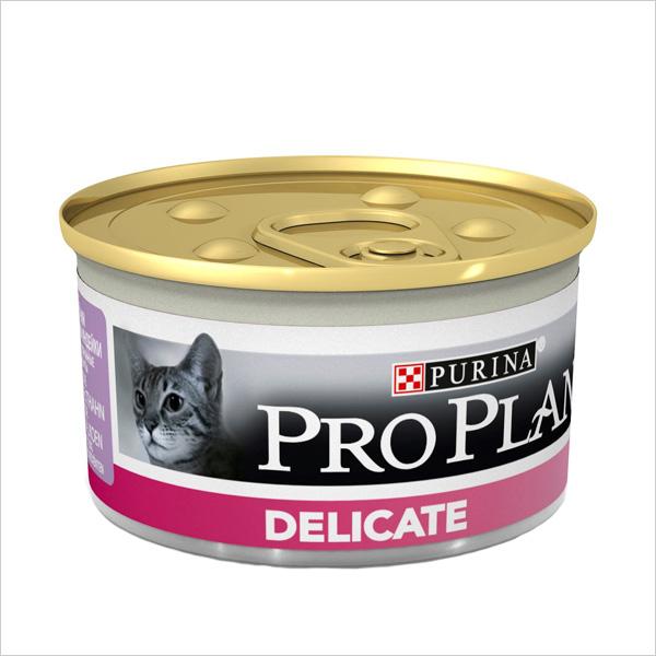 Влажный корм для кошек Pro Plan Delicate паштет с индейкой