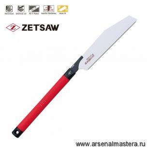 Пила японская Kataba Hardwood H-250 250 мм 14tpi 0.5 мм пластиковая рукоять поперечный, продольный и комбинированный рез ZetSaw 15069