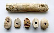 Золотая Орда. Рукоять и детали для наборной рукоятки ножа, кость, 14 век