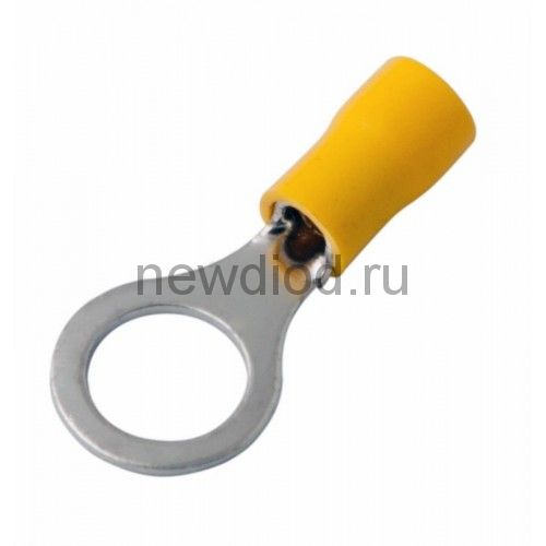 НАКОНЕЧНИК КОЛЬЦЕВОЙ изолированный ø10.5мм 4-6мм² (НКи 6.0-10 / НКи5,5-10 / RV5.5-10) желтый  REXANT