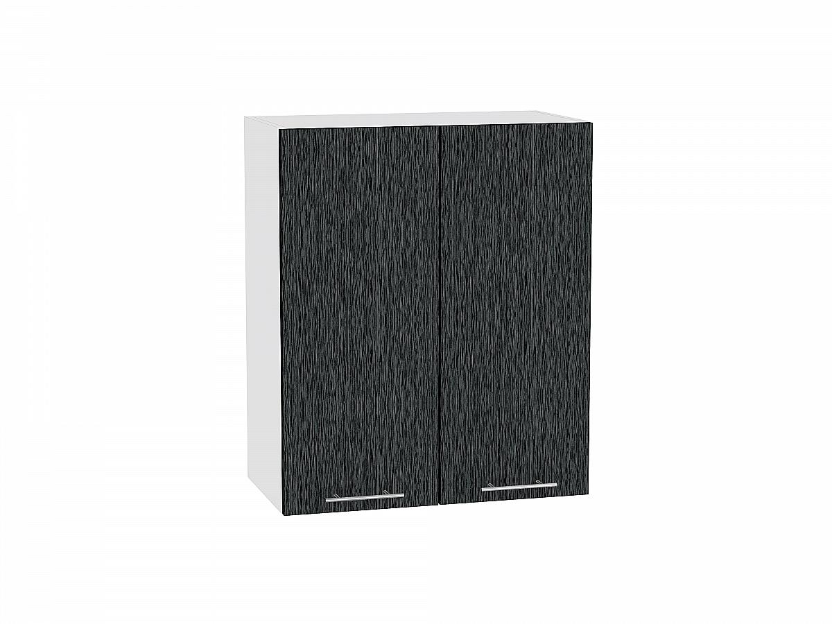 Шкаф верхний Валерия В600 (чёрный металлик дождь)