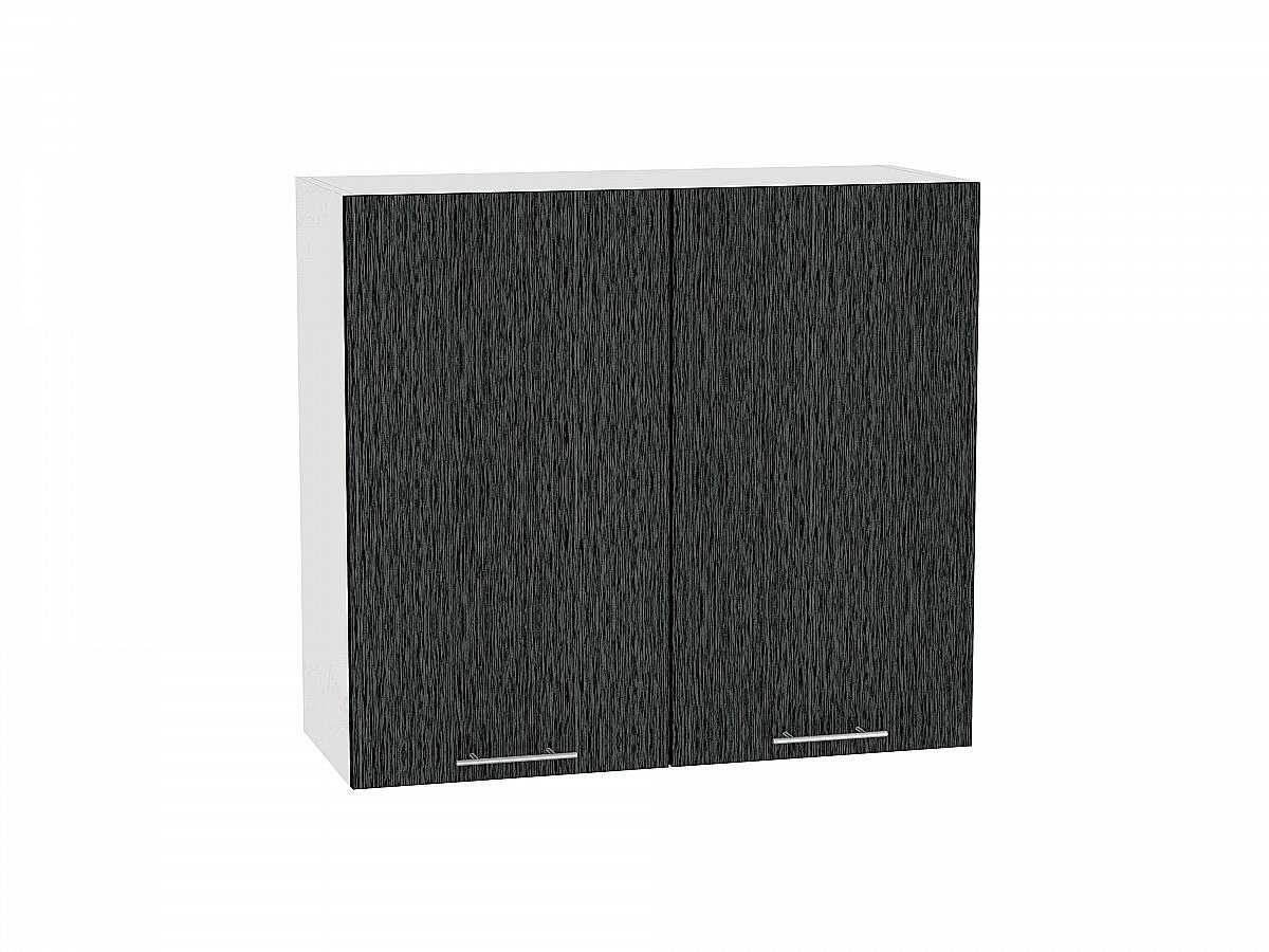 Шкаф верхний Валерия В809 (чёрный металлик дождь)