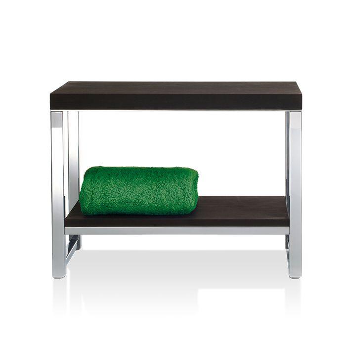 Душевая скамейка Decor Walther DW с деревянным сиденьем 927186 ФОТО