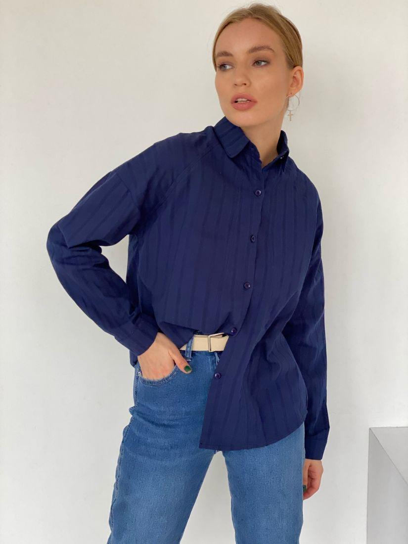 2696 Рубашка тёмно-синяя