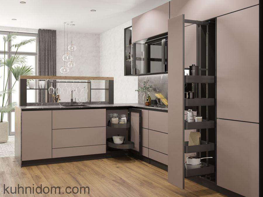 Кухня Gloss Cola Black