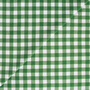 Лоскут трикотажной ткани Зелёная клетка 50*30 см.