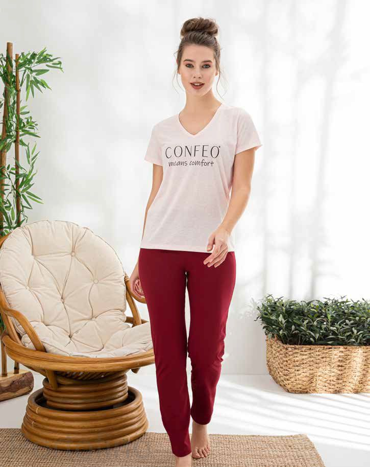 840-009 roz CONFEO Пижама женская