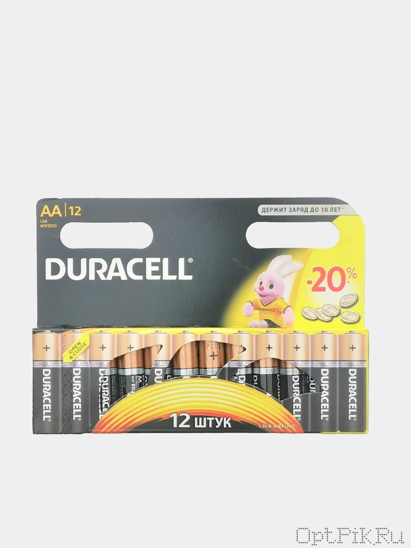 Батарейки пальчиковые АА упаковка 12 шт.