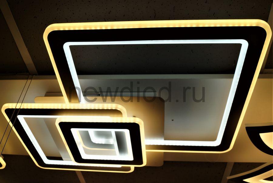 Управляемый светодиодный светильник GEOMETRIA 5082 190Вт-48м² 6/3/4000K пульт 700мм белый Oreol