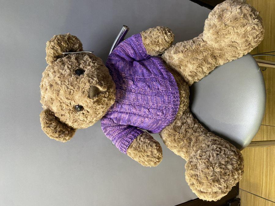 Медведь коричневый кудрявый 80 см