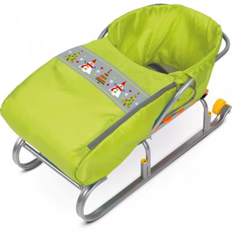 Сиденье с чехлом для ног лимонный Снеговики