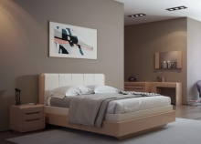 Кровать LYONA 160х200 дуб с механизмом