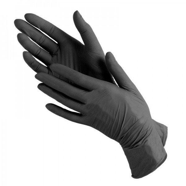 Перчатки НИТРИЛ S (черные) Wally Plastic 50пар/уп