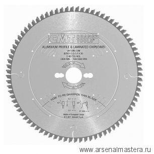 CMT 297.080.10M Диск пильный 250x30x3,2/2,5 -6° TCG Z=80 по цветным металлам и ламинированным панелям