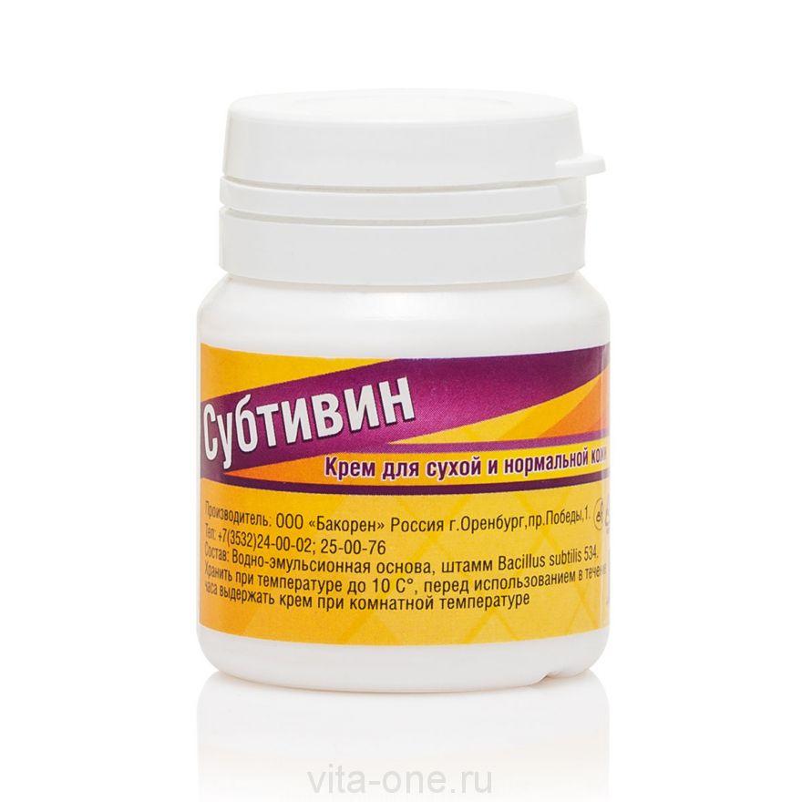 Субтивин крем от трещин и ожогов 30 мл