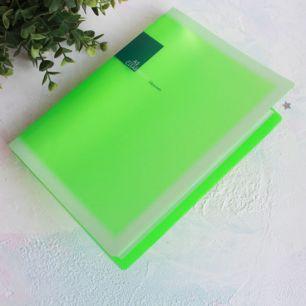 Папка для выкроек формата А5, зеленая